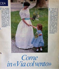 Digitale Bibliotheek: 13sept16 Italian wedding-dresses from the 80th's....