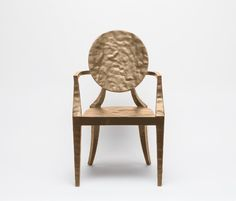 Great new Louis XV chair in hammered metal. Available at Vivid Home.