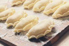 Polish Pierogi Dough Recipe, Sweet Cheese Pierogi Recipe, Vegan Pierogi Recipe, Empanadas, Polish Dumplings, Poland Food, Lithuania Food, Food Mills, Blur