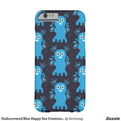 Undiscovered #Blue Happy Sea Creatures #Pattern #iPhone 6 and 6S case