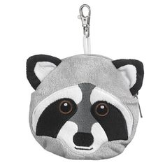 Raccoon Stuffed Animal Plush Pouch Purse Animal Case Clip on Bag Animal Zipper Pouch Wallet Bag -- Read more reviews of the product by visiting the link on the image.