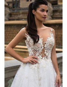 Prinzessin Glamouröse Traumhafte Brautkleider aus Organza mit Applikation
