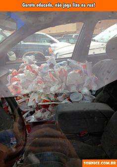 hora de limpar o carro