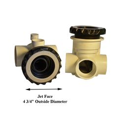 Waterway 210-4531 Quad flo smooth face directional jet insert in Black #Waterway