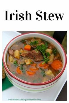 Irish Stew Recipe | Today's Irish Stew Recipe is a slow cooker meal that makes a quick and tasty meal on St. Patrick's day! We love to celebrate St. Patties Day by wearing green, cooking Irish recipes, and wishing everyone Luck o' Irish! || cookingwithruthie.com #irishstew #stpatricksday #souprecipes Chili Recipes, Slow Cooker Recipes, Soup Recipes, Cooking Recipes, Irish Stew, Tasty, Yummy Food, Irish Recipes, Cooking With Kids