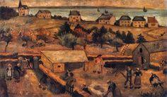 Tadeusz Makowski, Zagroda w Keranquernat 1917. Olej na płótnie on ArtStack…