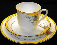 Shelley China Vincent Yellow Flame 11586