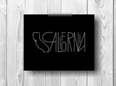 Items similar to BUY 2 GET 1 FREE California State Modern Abstract Black Poster Printable Wall Decor Printable Art Digital Poster on Etsy Printable Art, Printables, Fonts, Wall Decor, Abstract, Digital, Unique Jewelry, Handmade Gifts, Modern