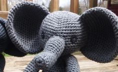 Crochet Elephant Pattern ~ Ellie the Elephant by CarolynLouiseCrochet on Etsy