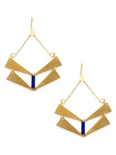 Camilla Lapis Earring by Elli by Double Happiness Jewelry on Gilt.com