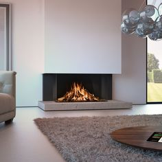 Spartherm DRU Gaskamin Maestro RCH Home contemporary fireplace ideas Living Room Decor Fireplace, Porch Fireplace, Gas Fireplace Logs, Modern Fireplace, Fireplace Design, Fireplace Ideas, 3 Sided Fireplace, Contemporary Fireplaces, Gas Fireplaces