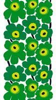 Marimekko Unikko Green Fabric The Marimekko Unikko poppy fabric in green displays bright green and yellow flowers with black stems. This popular Unikko poppy flower design was created by Maija Isola in (See the secondary pho. Textile Patterns, Textile Design, Fabric Design, Print Patterns, Pattern Design, Textiles, Scandinavian Fabric, Marimekko Fabric, Scandinavia Design