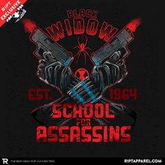 ''Nat's School for Assassins'' by AtomicRocket available today only, 5/26/15, at RIPT Apparel