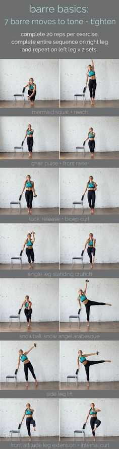 barre basics: 7 barre moves to tone + tighten | www.nourishmovelove.com