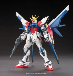 1/144 HGBF Build Strike Gundam Full Package | Gundam Build Fighters Animé | Military Sci-Fi Mecha Scale Model