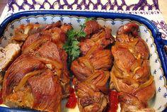 Mușchi de porc împletit Galo, Ketchup, Tandoori Chicken, Chicken Wings, Macarons, Turkey, Beef, Ethnic Recipes, Pork