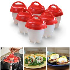Silicone Egg Cooker Hard Boiled Eggs without the Shell 6 Egg Cups Egg Maker Hard Boiled Egg Cooker, Boiled Egg Maker, Cooking Cup, Cooking Tools, Perfect Poached Eggs, Making Hard Boiled Eggs, Egg Molds, Egg Cups, Kitchens