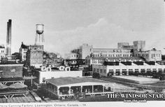 The view of the greatly-expanded H. Heinz plant after the boom of the is pictured in this file photo. Colchester Essex, Windsor Ontario, Essex County, Star Wars, History Photos, Vaulting, Places Ive Been, The Past, Street View