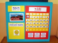 Kalendář na suchý zip Classroom Management, Activities For Kids, Preschool Ideas, Teaching Ideas, Periodic Table, Teacher, Album, Inspiration, Picasa