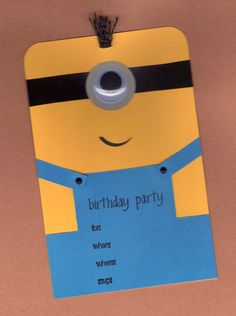 Minion+Birthday+Invitations+10pk+by+BongelBlessings+on+Etsy,+$26.00
