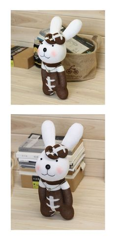 DIY Handmade Bunny Sock Doll Kit with detailed by LittleJenStore