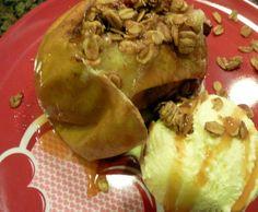 Baked Apple Pie Ice Cream Sundae {Gluten Free}