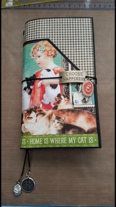 Travel Journal created by crafter  Andrea Meadows Boyette.