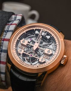 """Girard-Perregaux Minute Repeater Tourbillon With Gold Bridges Hands-On - by Rob Nudds - see the hands-on pictures & our analysis: http://www.ablogtowatch.com/girard-perregaux-minute-repeater-tourbillon-gold-bridges/ """"While many believe the death knell for mechanical watchmaking is fast approaching, the chime of the Girard-Perregaux Minute Repeater Tourbillon With Gold Bridges rings out in opposition. The sound is one of defiance and optimism, and the watch, a standard bearer for an army that…"""