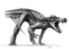 dinosaur drawings | Ancient crocodilian. © Todd Marshall used by permission of Titan ...