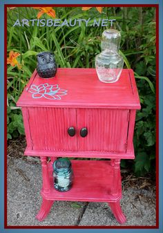 ART IS BEAUTY: LOTUS side table makeover