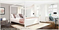 Four Poster Bed - Summer from getlaidbeds.co.uk
