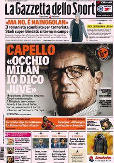 Rassegna stampa Italia: Capello esclusivo, Juve-Milan blindata - http://www.maidirecalcio.com/2015/11/20/rassegna-stampa-italia-capello-esclusivo-juve-milan-blindata.html