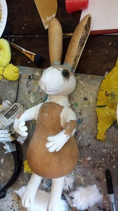 Gourd bunny WIP.
