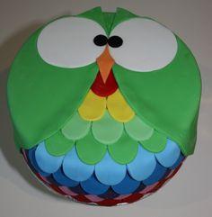 owl cake with fondant