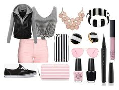 """Think Pink"" by tammygrace ❤ liked on Polyvore featuring H&M, Kate Spade, Vans, LE3NO, MICHAEL Michael Kors, NOVICA, Isabel Marant, OPI, Marc Jacobs and NARS Cosmetics"