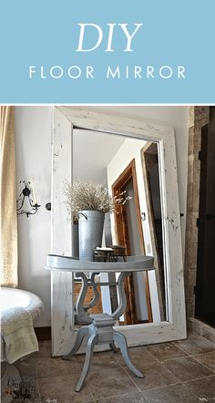 An oversized floor mirror is an excellent way to add style to a room and make a small space seem much larger. Learn to make one yourself with just a closet sliding door mirror, wooden boards, and the wood stain of your choice. This budget-friendly DIY decor project makes a great addition to any style of home.