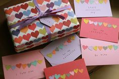 really like the sewn on paper hearts!
