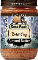 Once Again Crunchy No Salt Almond Butter