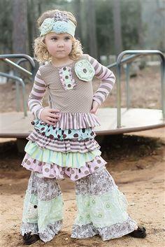 Mustard Pie Clothing - Josephine Dress in Rainbow