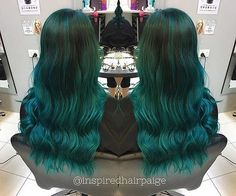 Gorgeous waves of by the amazing Manic Panic Voodoo Blue, Hair Styles 2016, Long Hair Styles, Multicolored Hair, Hair 2016, Dyed Hair, Hair Ideas, Wigs, Hair Makeup