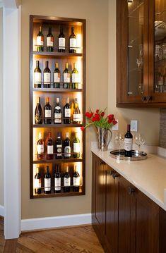 Home Bar Decor, Home Decor Kitchen, Kitchen Ideas, Kitchen Bar Design, Bar Kitchen, Minimalist Kitchen Cabinets, Bar Counter Design, Home Wine Cellars, Diy Casa