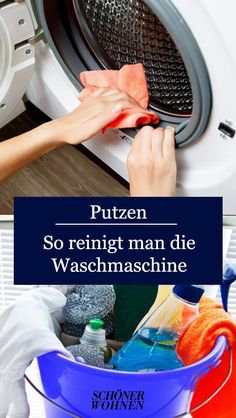 Waschmaschine reinigen – die besten Hausmittel What to do if the washing machine starts to stink and the laundry is no longer really clean? We have the best tips for a clean machine! Clean Washing Machine, Clean Machine, Hacks Diy, Home Hacks, Easy Hacks, House Cleaning Tips, Cleaning Hacks, Pinterest Photos, Clean House