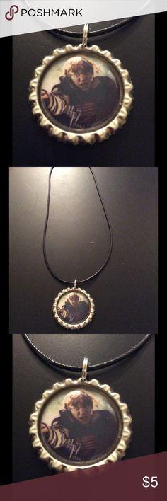 NWOT handmade HP Ron bottle cap necklace NWOT handmade HP Ron bottle cap necklace Jewelry Necklaces
