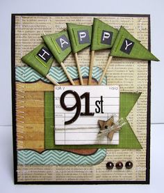 Nice masculine card - the Scrapping Actuary ...: ScrapFit Workout Reveal - Handmade Flags