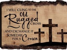 I Will Cling to the Old Rugged Cross Three Crosses 12 x 16 Wood Bark Edge Design Wall Art Sign -- You can get more details by clicking on the image. (This is an affiliate link) Bible Bulletin Boards, Easter Bulletin Boards, Christian Bulletin Boards, Reading Bulletin Boards, Preschool Bulletin Boards, Bullentin Boards, Classroom Board, Library Book Displays, Old Rugged Cross