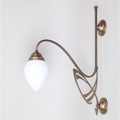 Victor Horta Wandlamp Elegantie. Vekrijgbaar bij www.artdecowebwinkel.com. #artnouveau #jugendstil