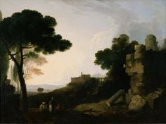 Landscape Capriccio with Tomb of the Horatii and Curiatii, and the Villa of Maecenas at Tivoli Richard Wilson (Welsh, 1714–1782)  Oil on canvas, 99.1 x 134.5, 1754. National Museum of Western Art, Tokyo.