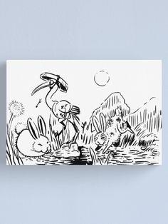 Grulla paseando entre las liebres