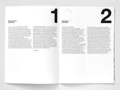 Artiva Design's bold black and white catalogue for contemporary art show