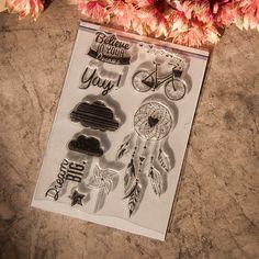 Pas cher 1 feuille bricolage Transparent Rubber Seal Stamp papier artisanat Scrapbooking décoration croyez dans votre rêve, Acheter  Cachets de qualité directement des fournisseurs de Chine:  Si vous trouvez les produits cassés ou manquants Lorsque recevoir le colis, s'il vous plaît ne pas hésiter à nous